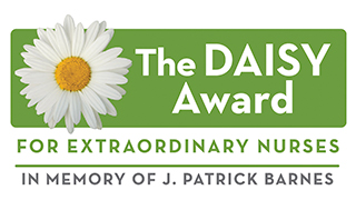 The Daisy Award for extraordinary nurses in memory of J. Patrick Barnes logo