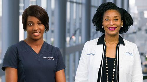 Nurse Riley and Dr. Nneka Ifejika