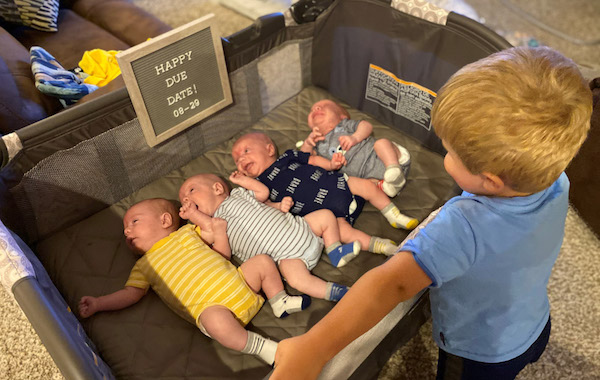Brain tumor surgery with quadruplets on the way: Katie's extra-complex pregnancy