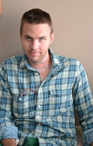Scott Burchett after surgery.