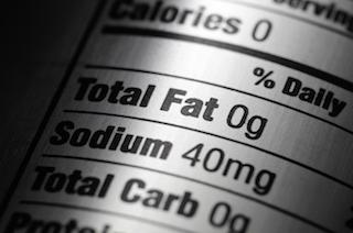 sodium nutrition label