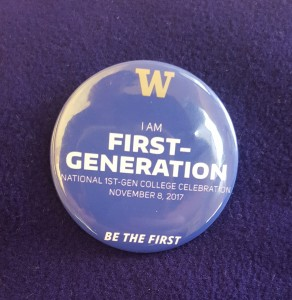 wearable first generation student button