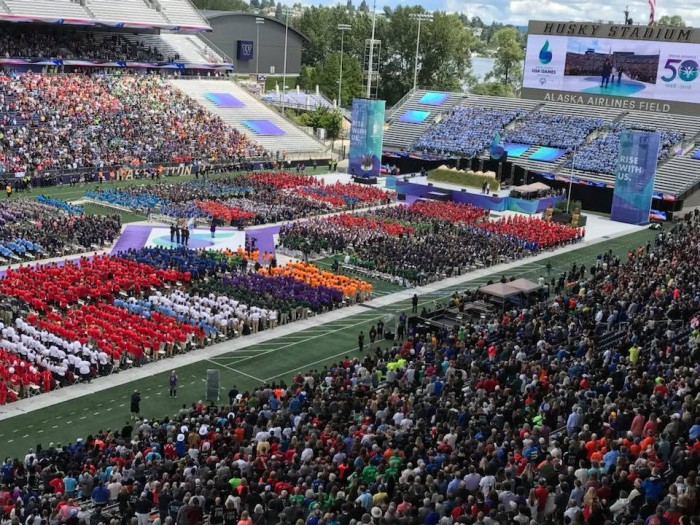 The 2018 Special Olympics opening ceremonies at Husky Stadium