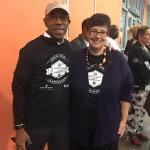 Michael Drake and Ana Mari Cauce at community service event