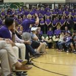4th grade recorder ensemble plays