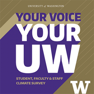 Your Voice, Your UW - University Climate Survey Logo