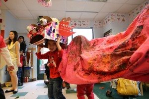 Students lion dancing during the Lunar New Year Celebration