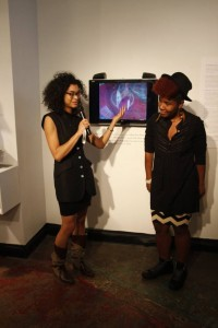 Chieko introducing Sassy Black at Photographic Center Northwest