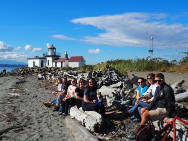 Hanging out by West Point Lighthouse at Discovery Park