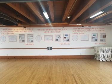 """The finished """"Still Afloat"""" exhibit at CWB. Photo courtesy of Amy Gorton."""