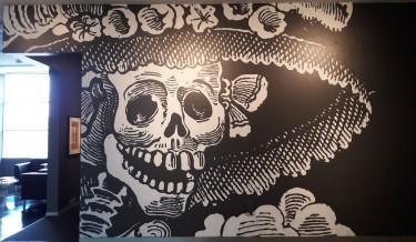 La Catrina mural, Bellevue Arts Museum