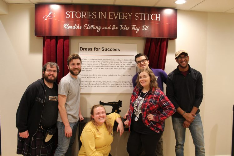 "Museology student exhibit team for ""Stories in Every Stitch"" at Klondike Gold Rush National Historical Museum"