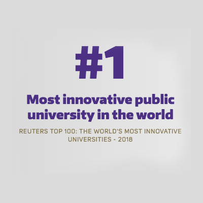Most innovative public university in the world according to Reuters ranking