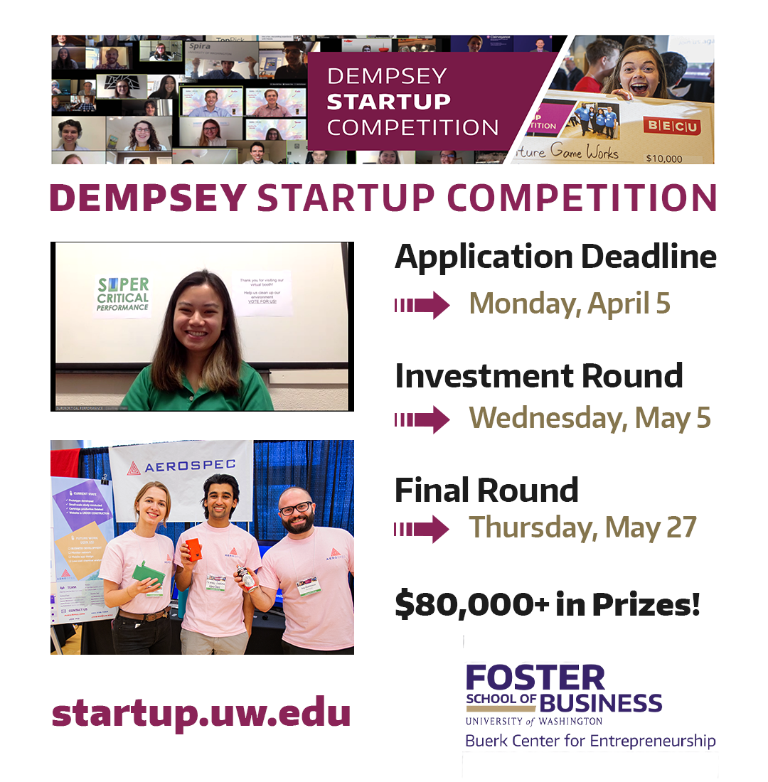 Dempsey Startup Competition, April/May 2021