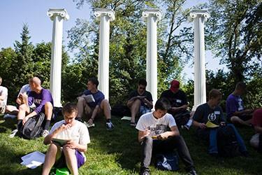 the four columns in Sylvan Grove