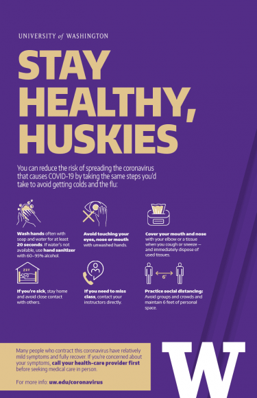 Stay Healthy, Huskies poster