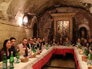 Group dinner in Rome