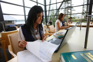 January 2015 Provost Report; Student in class at UW Bothell