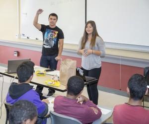 STARS mentors teaching a class