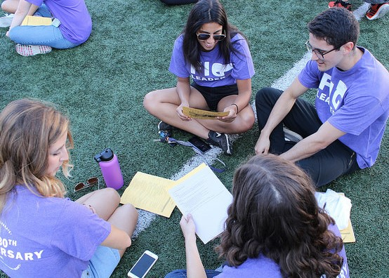 At the 2017 Husky Kick-Off, FIG leaders prepare to meet their students for the first time. Photo credit: Jason Fox.