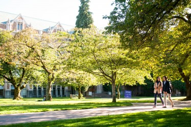 A sunny day at the University of Washington Seattle.