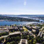 Aerial Photo of Campus with Seattle in the Background