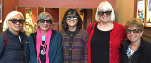 Members of our Afternoon at the Movies group are showing off the 3-D glasses they wore to see the sci-fi blockbuster The Martian.
