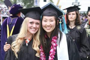 two female graduates