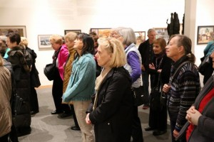 Gallery Goers/Seattle Seattle in rapt attention on a docent tour of the newly opened Cascadia Museum in Edmonds.
