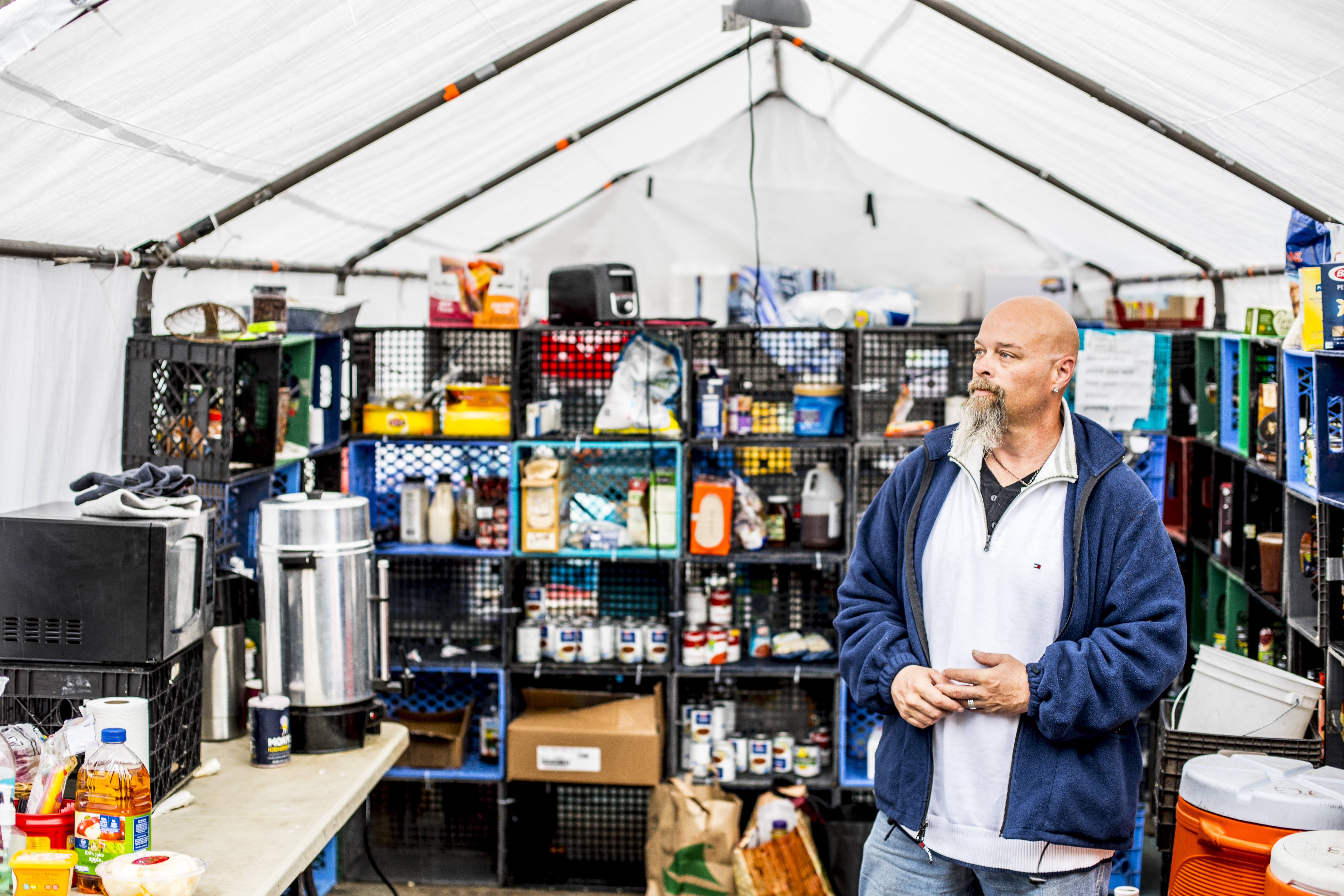 A look inside Tent City 3's food pantry