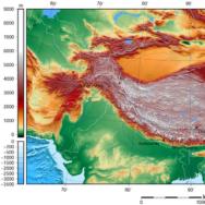 Tibet Topographical Map