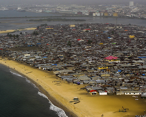 Image of seaside slum