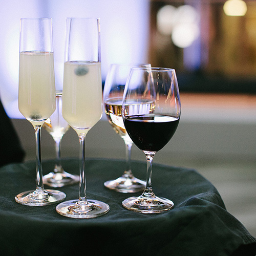 Image of champagne and wine glasses