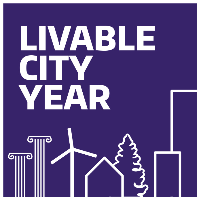 Image of the Livable City Year logo