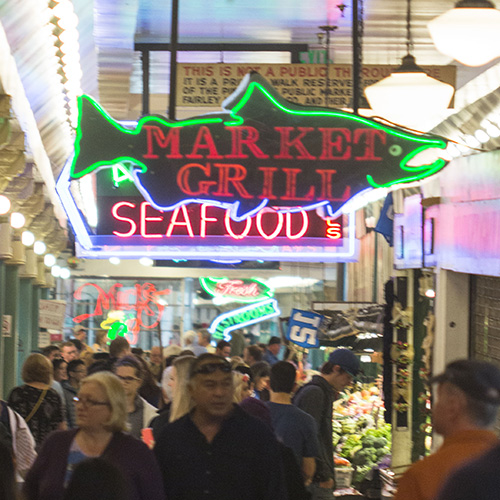 Image of fish market signs