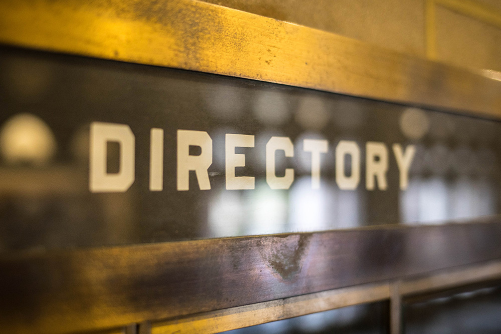 Image of building directory sign