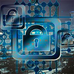 Image of padlocks superimposed over Seattle skyline