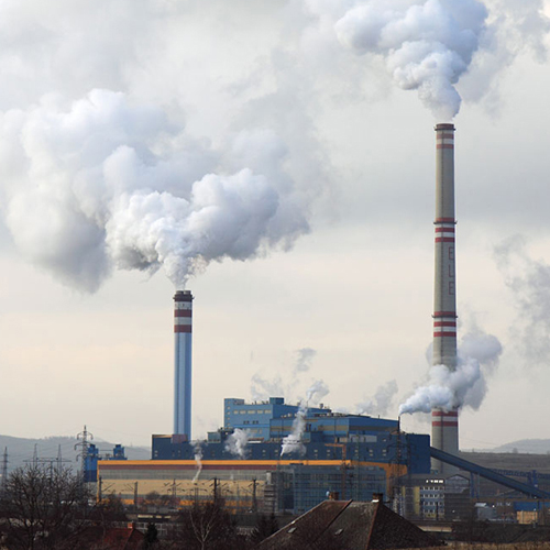 Image of a coal-fired power plant