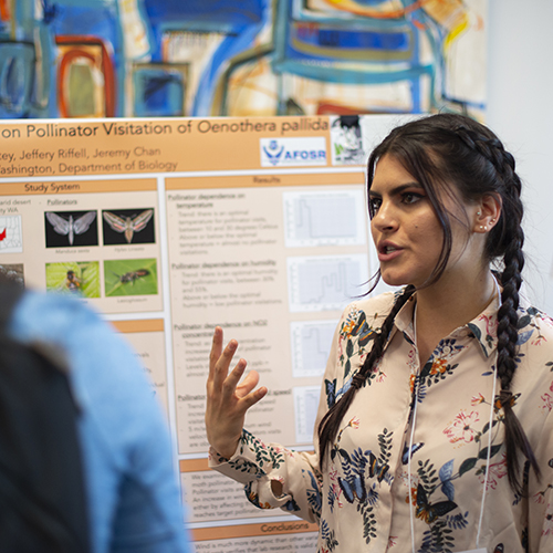 Students present their work at the Undergraduate Research Symposium in Mary Gates Hall