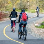 Bicyclists on the Arboretum Trail