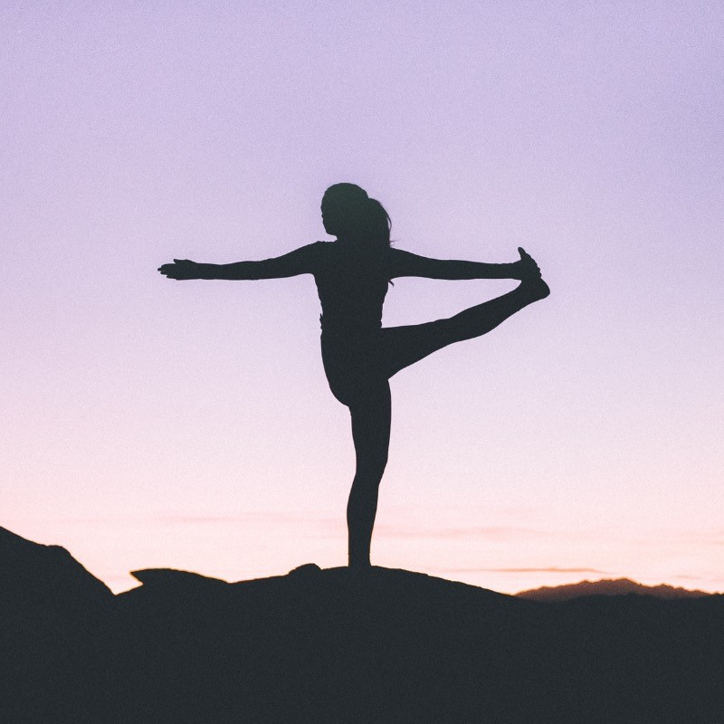 Image of woman in a yoga pose