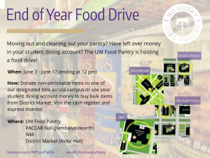 End of Year Food Drive Image
