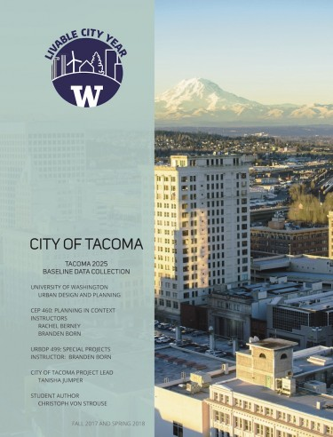 Tacoma 2025 Baseline Data Collection report cover