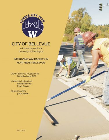 Improving Walkability in Northeast Bellevue report cover
