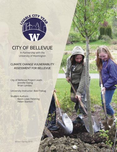 Climate Change Vulnerability Assessment for Bellevue report cover