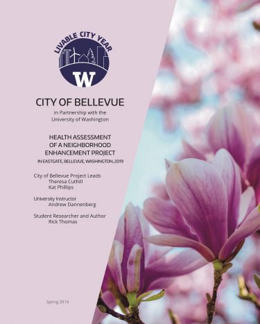 Health Assessment of a Neighborhood Enhancement Project report cover