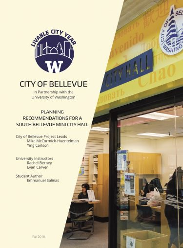 Planning Recommendations for a South Bellevue Mini City Hall report cover