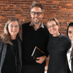 LCY Co-Directors Jennifer Otten and Branden Born, LCY Program Manager Teri Thomson Randall, and LCY Program Assistant 2018-2019 Michelle Abunaja.