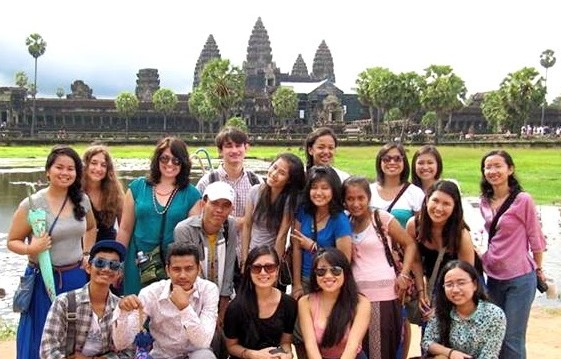 Social work students in Cambodia