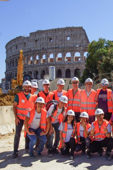 Thomas Le and his classmates in Rome
